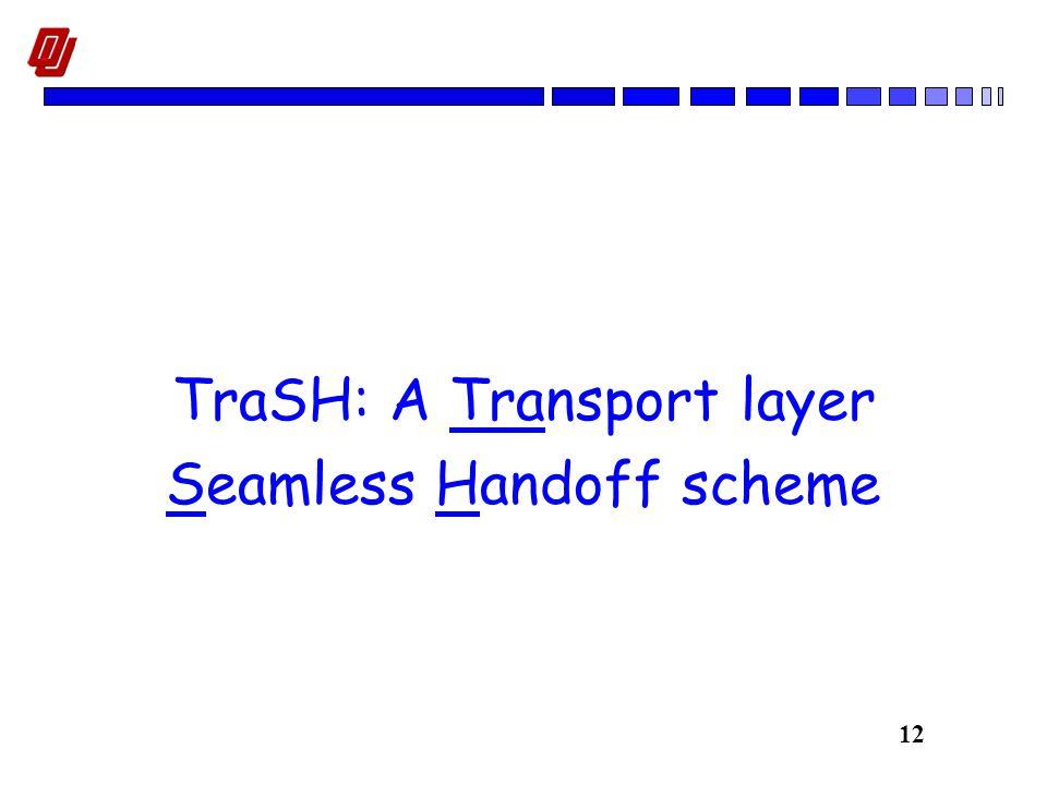 12 TraSH: A Transport layer Seamless Handoff scheme