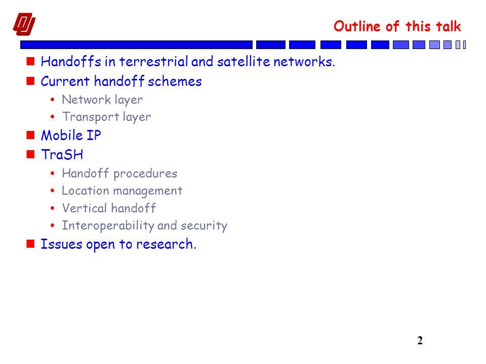 3 Handoffs in LEO Satellite Constellations