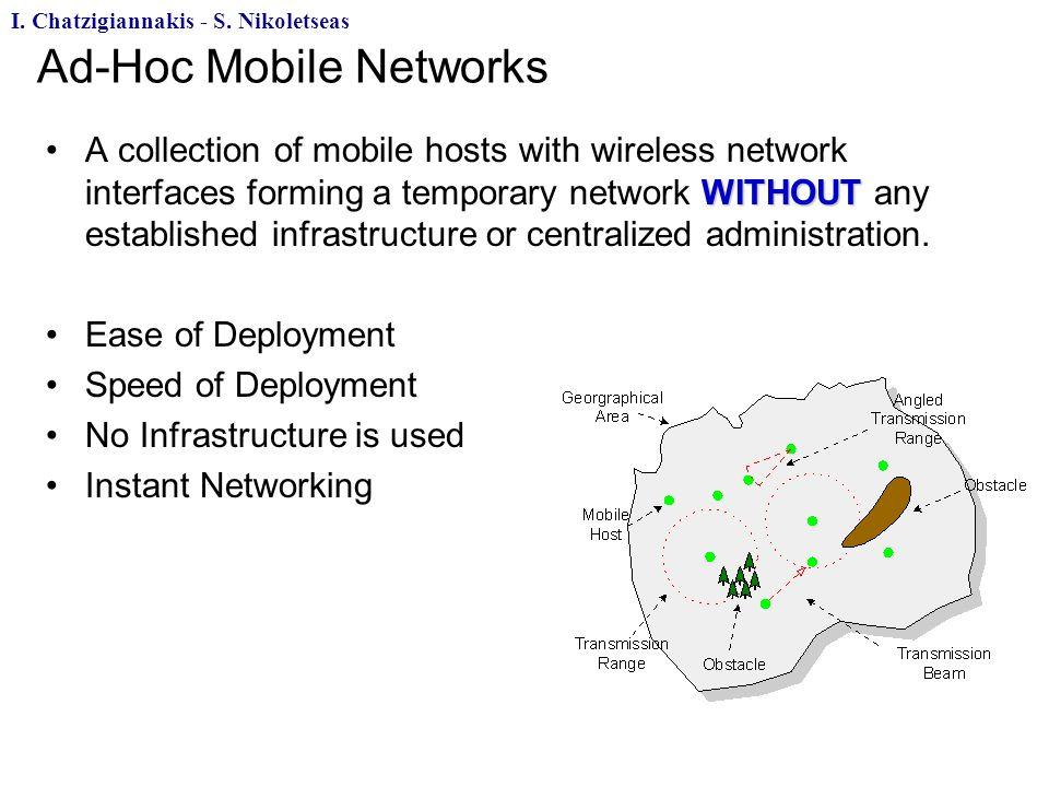Ad-Hoc Mobile Networks I.Chatzigiannakis - S.