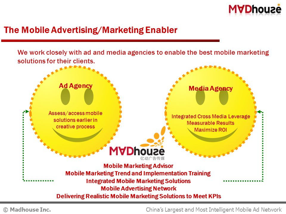© Madhouse Inc. Integrated Mobile Marketing Solutions