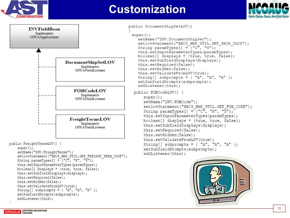 16 Customization