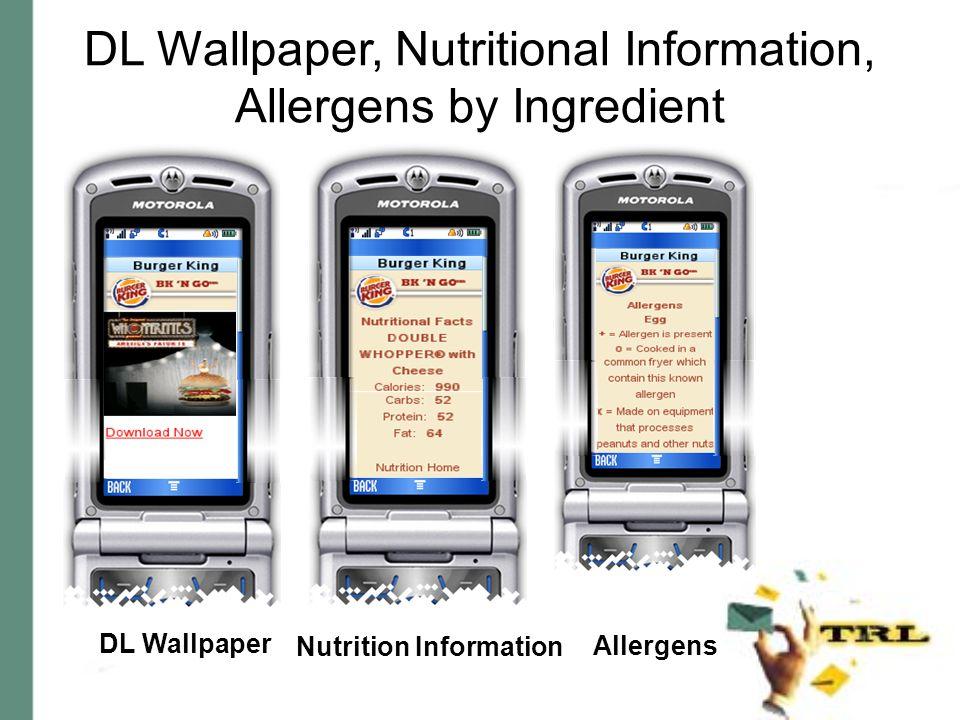 DL Wallpaper, Nutritional Information, Allergens by Ingredient DL Wallpaper Nutrition Information Allergens