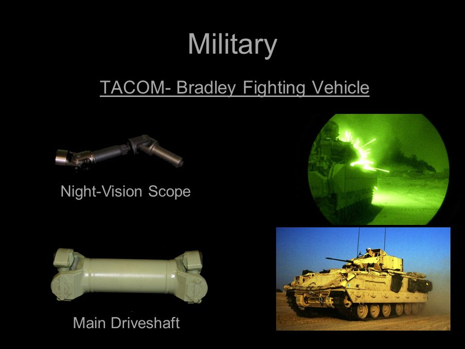 Military TACOM- Bradley Fighting Vehicle Night-Vision Scope Main Driveshaft