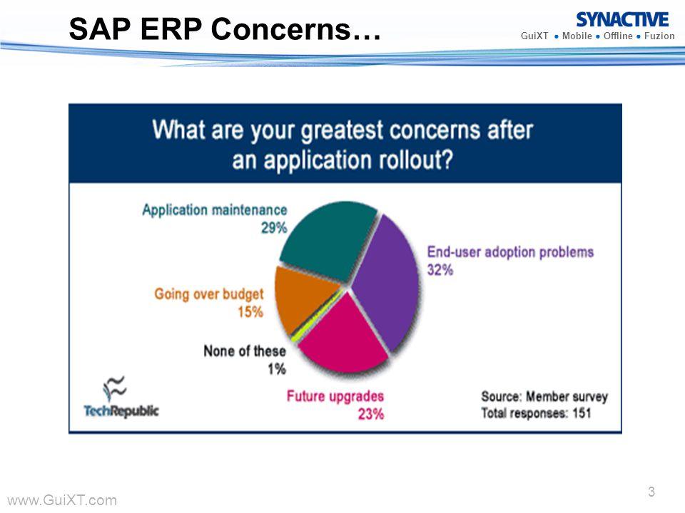 www.GuiXT.com GuiXT Mobile Offline Fuzion 3 SAP ERP Concerns…