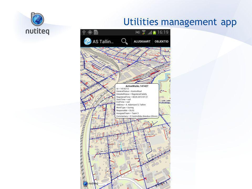 Utilities management app