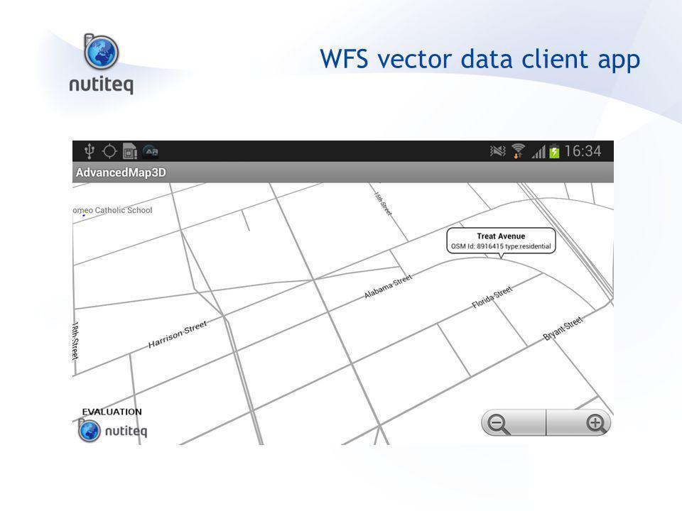 WFS vector data client app