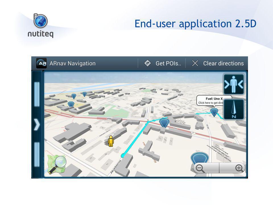 End-user application 2.5D
