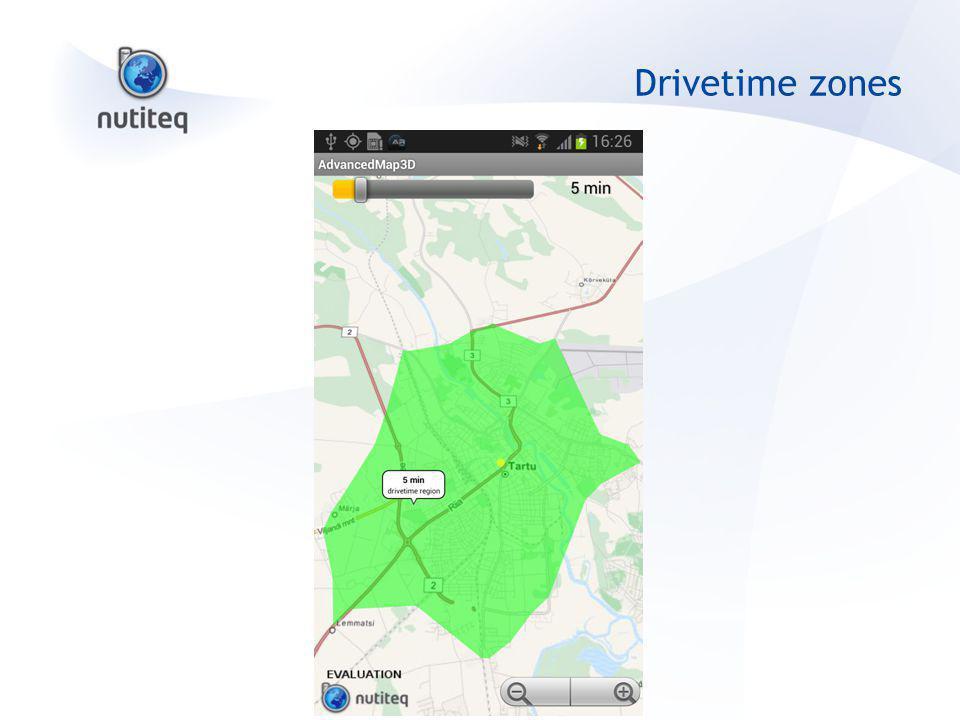 Drivetime zones