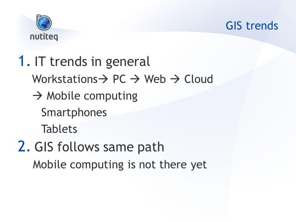 GIS trends 1.