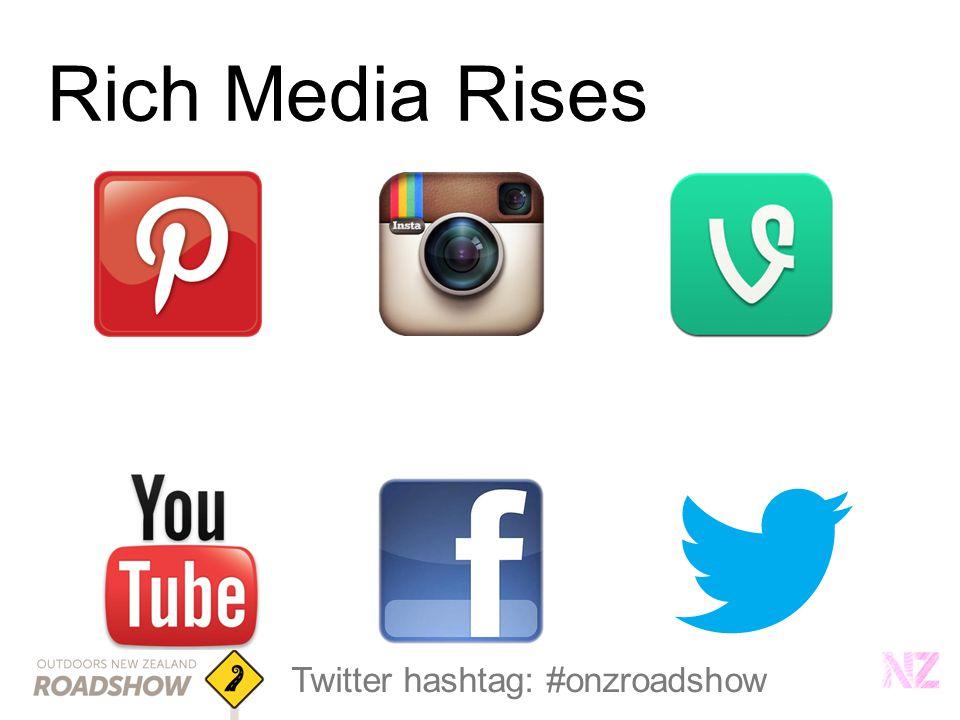 Twitter hashtag: #onzroadshow Rich Media Rises