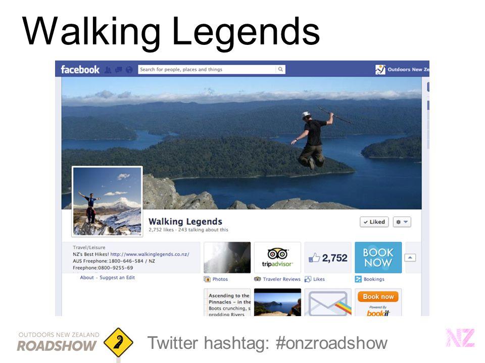 Twitter hashtag: #onzroadshow Walking Legends