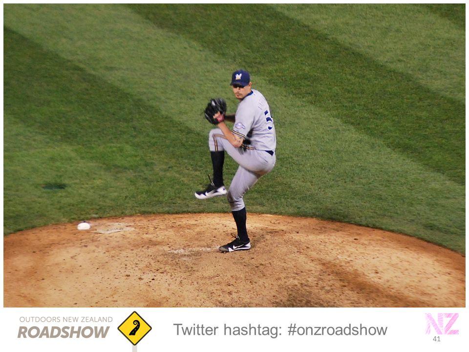 41 Twitter hashtag: #onzroadshow 41