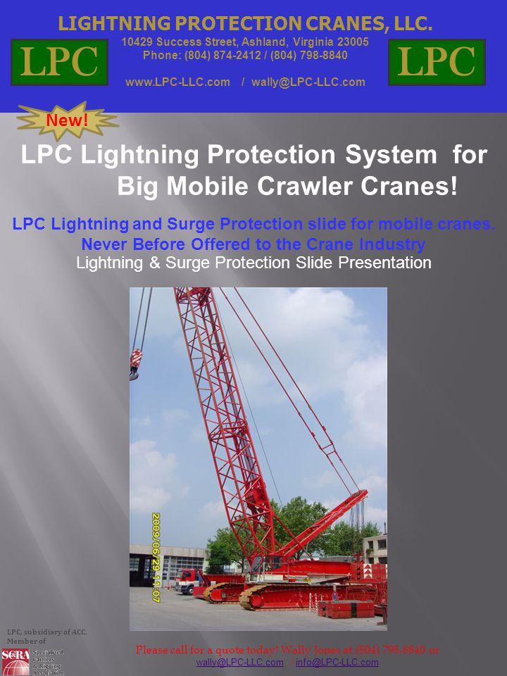 LIGHTNING PROTECTION CRANES, LLC.