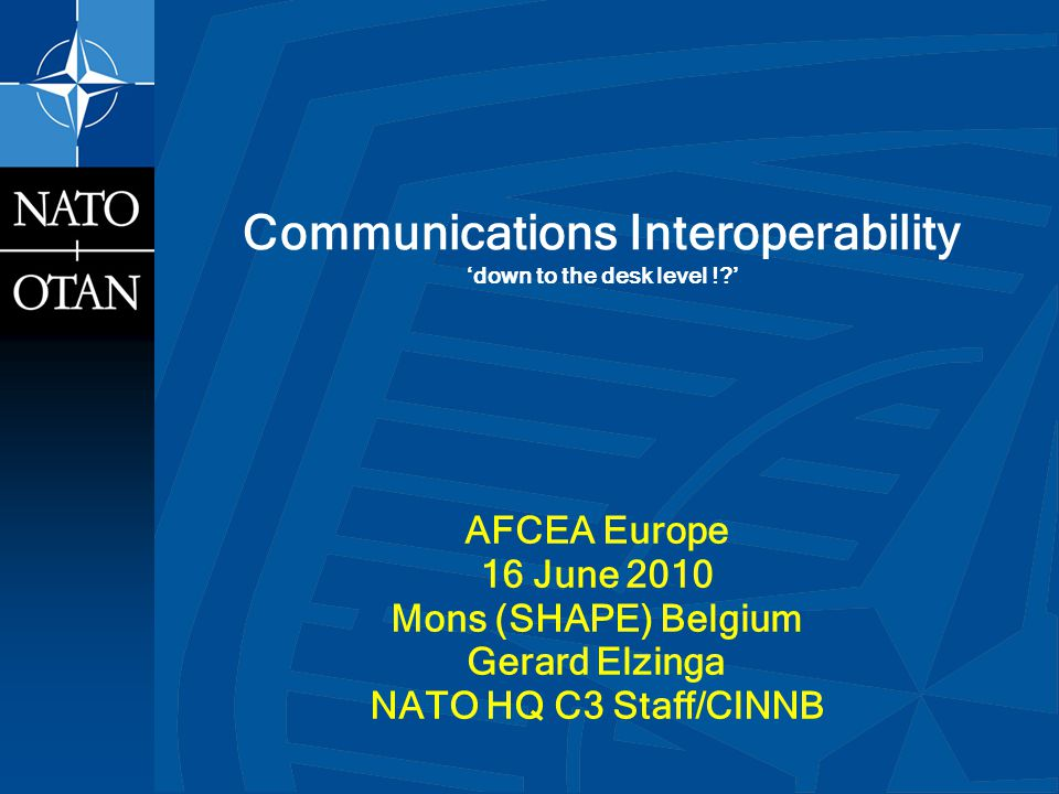 Communications Interoperability down to the desk level !.