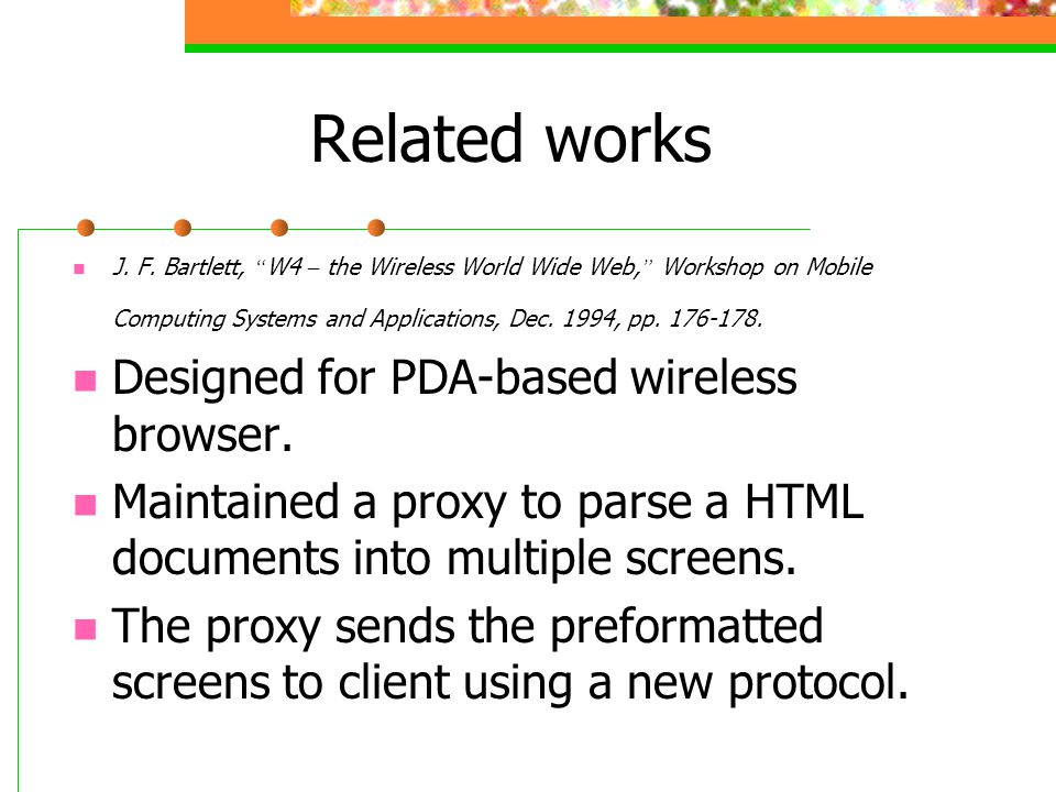 Message Format Handoff request message Distilled data request message Distilled data message