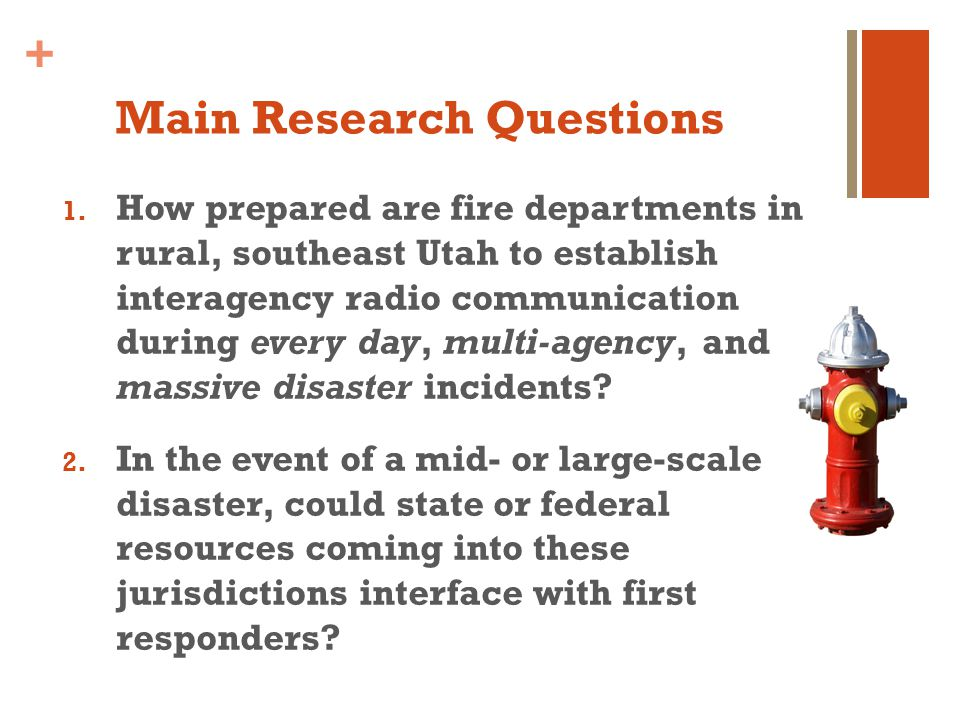 + Main Research Questions 1.