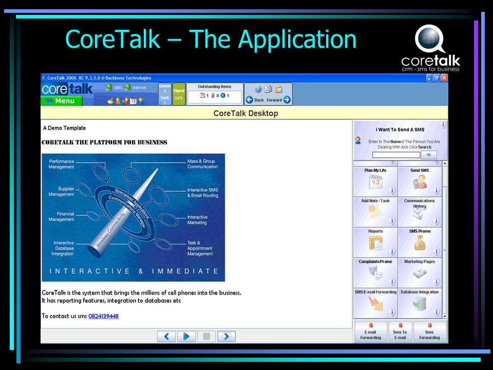 What CoreTalk does for the Network CoreTalk builds the Networks business base.