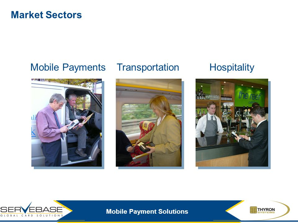 Mobile Payment Solutions Thyron UK Strategic Partners GPRS partners Wireless-LAN partners Card processing bureau Partner