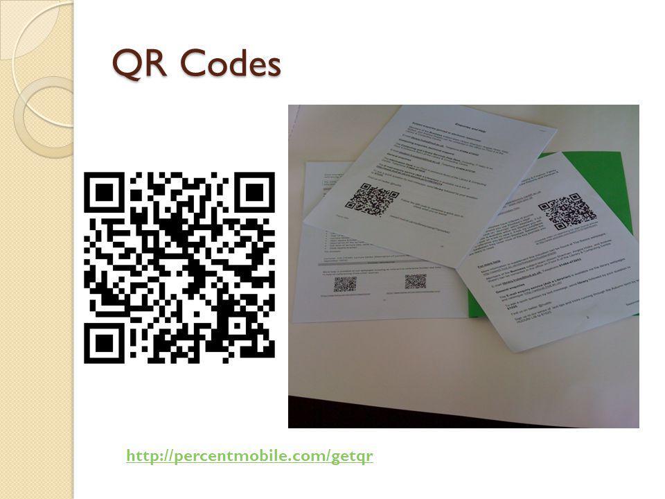 QR Codes http://percentmobile.com/getqr