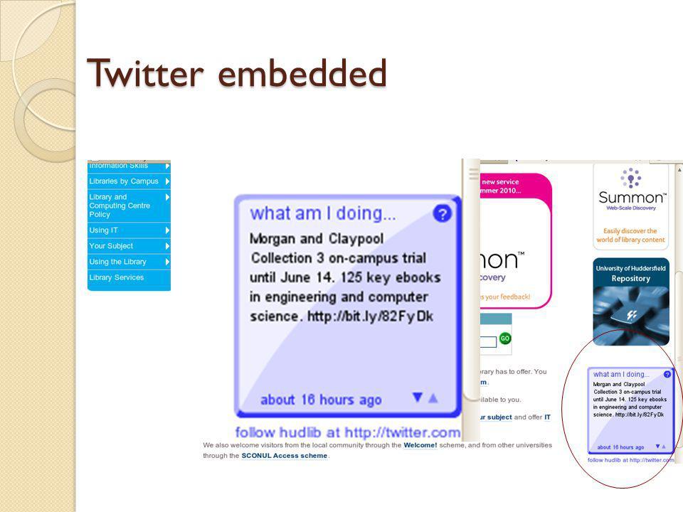 Twitter embedded