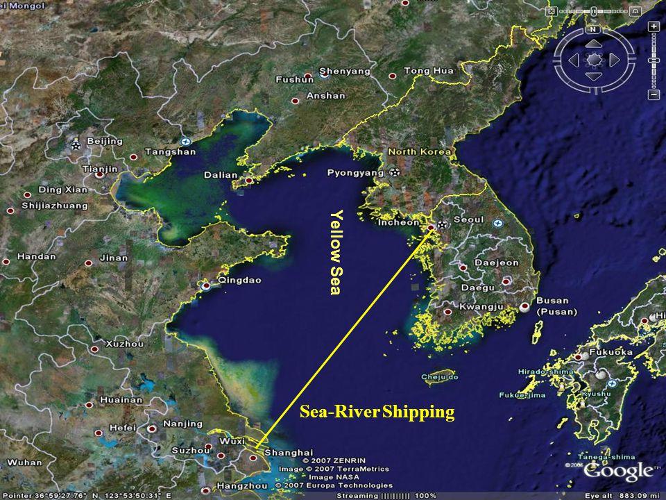 KTX JR TCR TKR TMR Lianyungang Yantai TMGR Short Sea Shipping Routes In Yellow Sea Region Ocean Route SSS Route To America EU Yangtze River