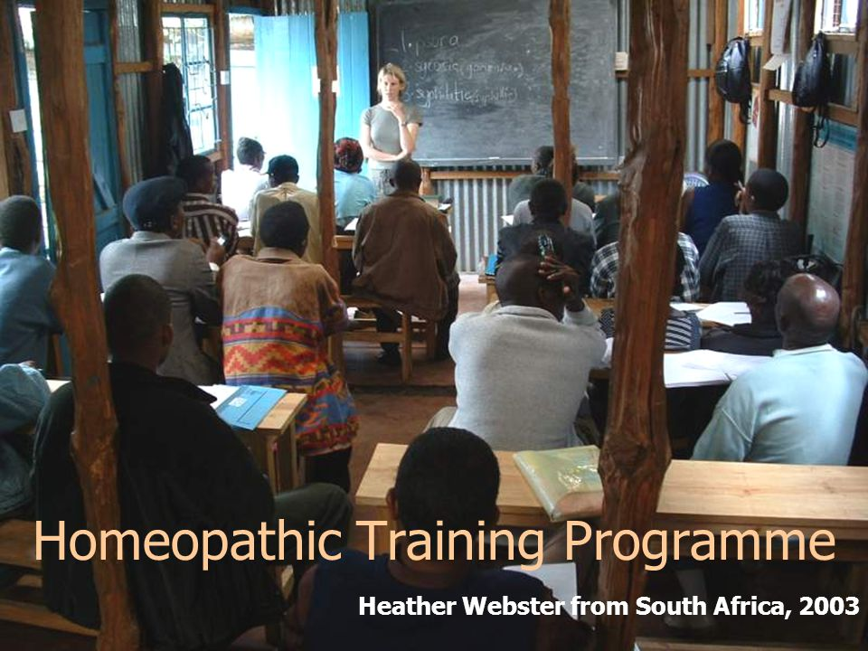 Homeopathic Training Programme Heather Webster from South Africa, 2003