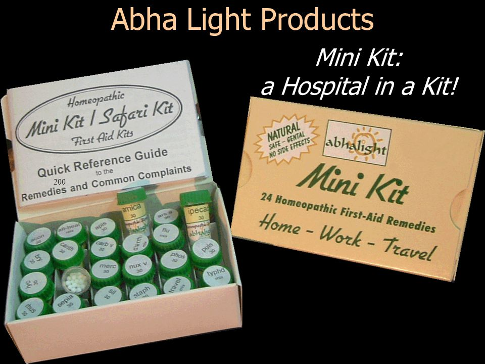 200 Abha Light Products Mini Kit: a Hospital in a Kit!