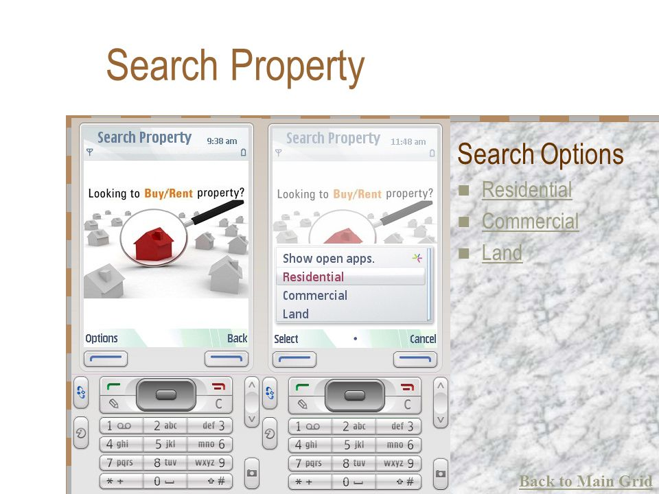 Search Property Search Options Residential Commercial Land