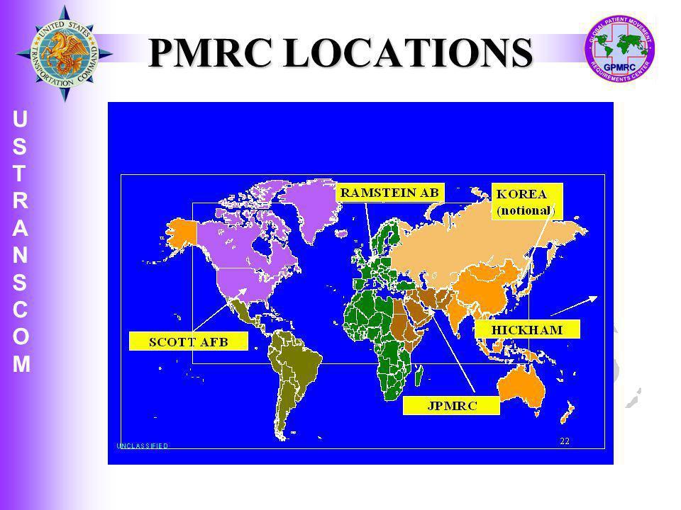 U S T R A N S C O M USTRANSCOMUSTRANSCOM PMRC LOCATIONS