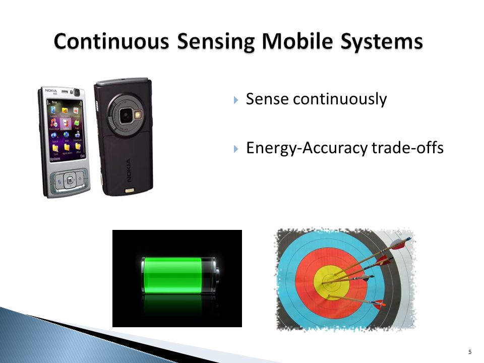 Sense continuously Energy-Accuracy trade-offs 5