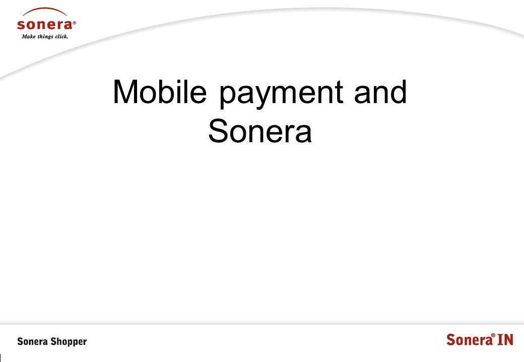 Mobile payment and Sonera