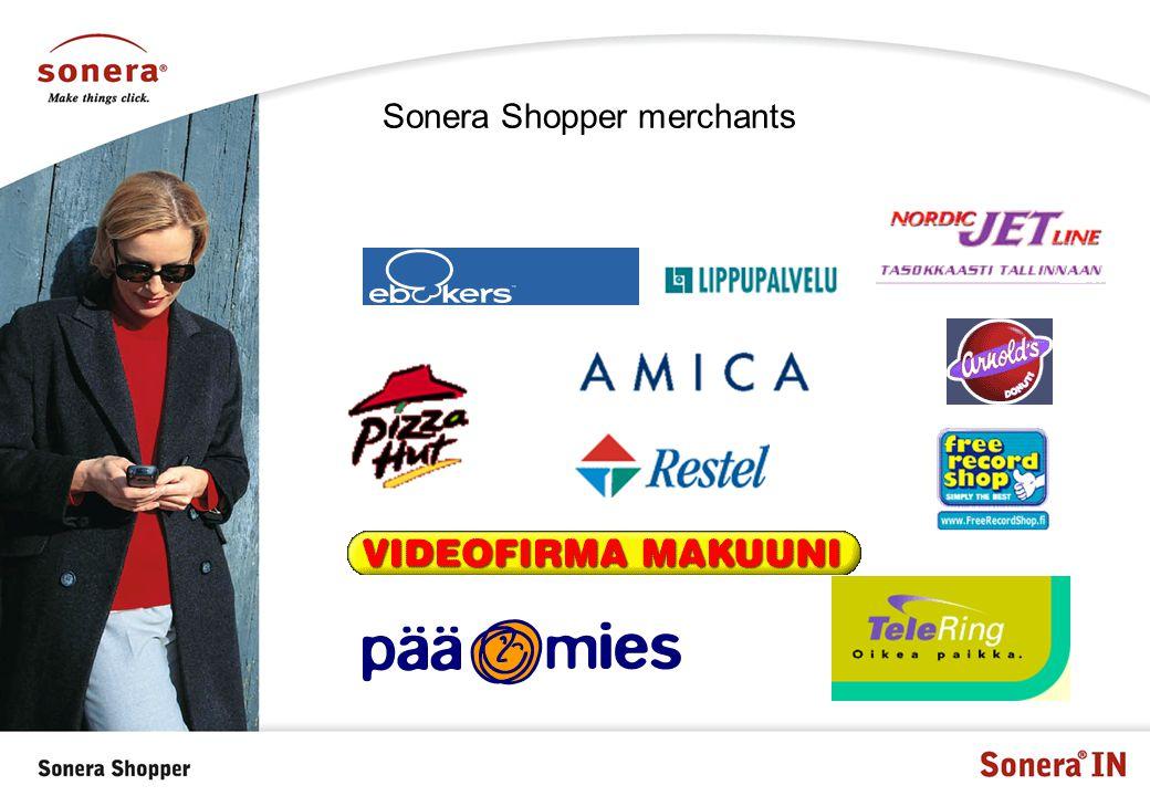 Sonera Shopper merchants