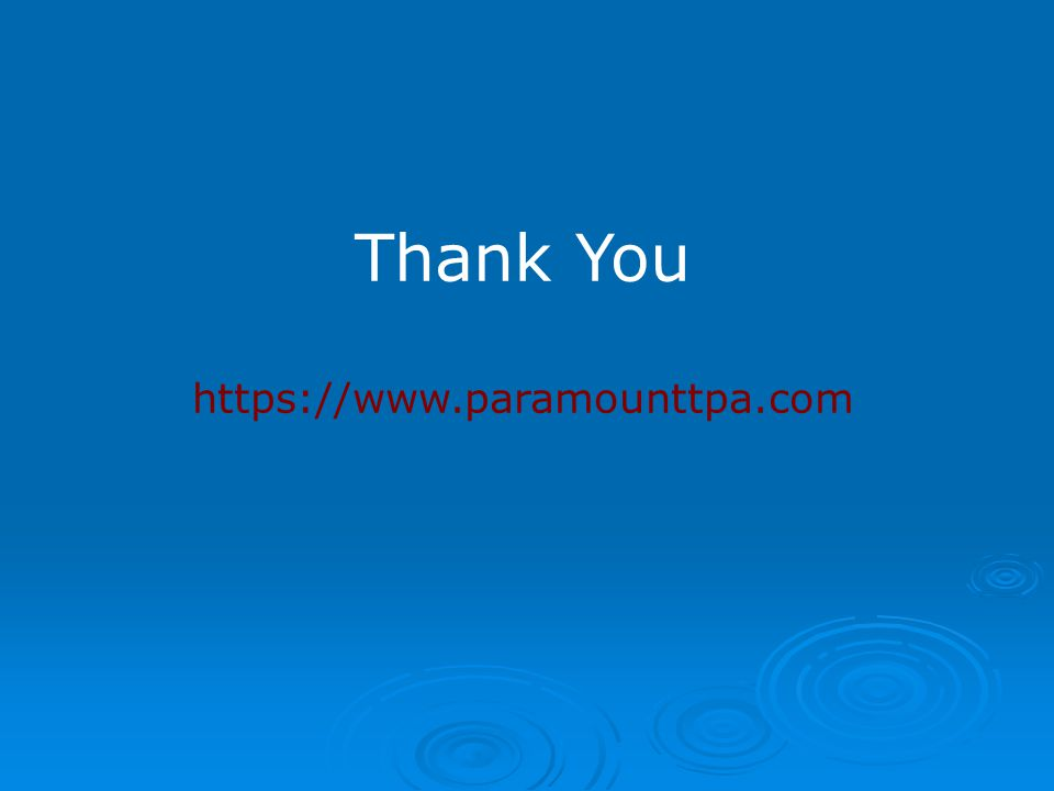 Thank You https://www.paramounttpa.com