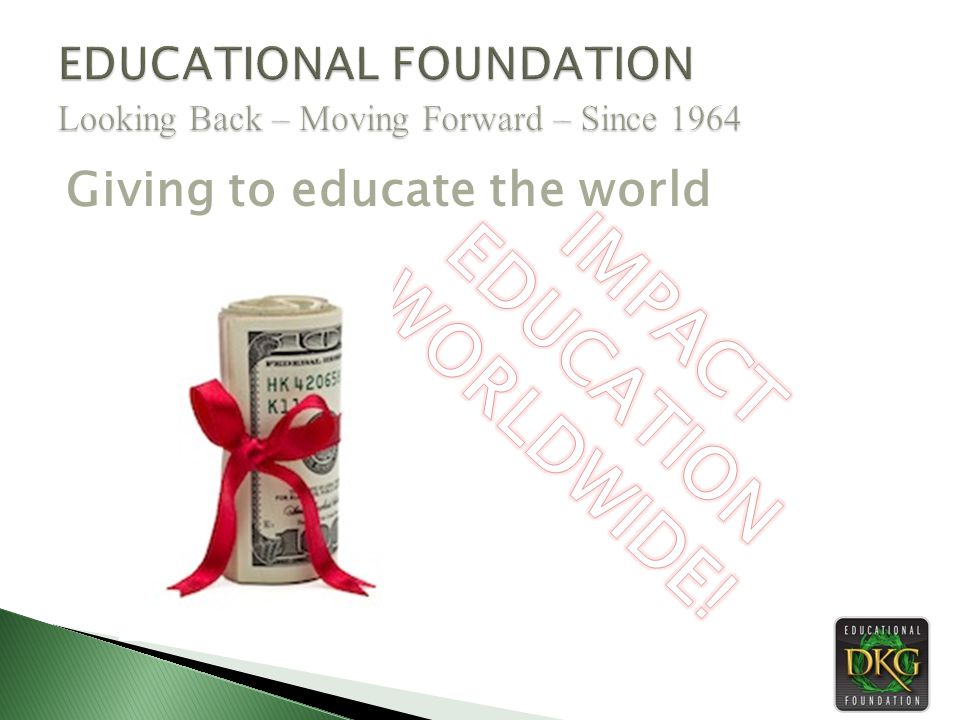 Giving to educate the world