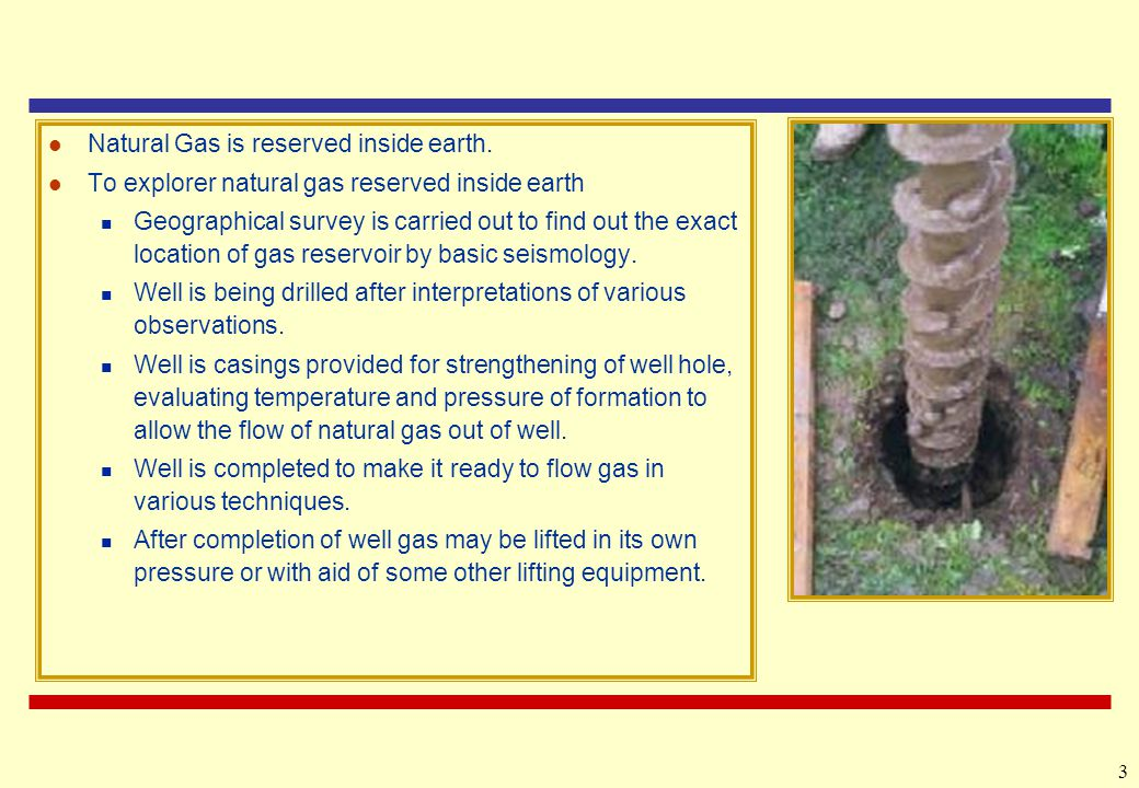 3 Natural Gas is reserved inside earth.