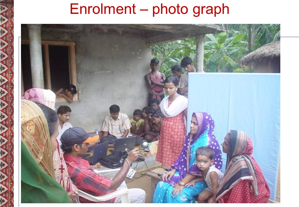 Enrolment – photo graph