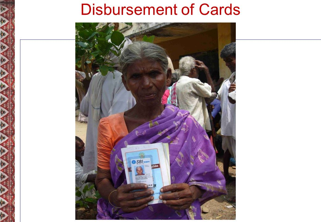 Disbursement of Cards