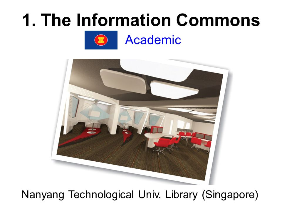 1. The Information Commons Academic Nanyang Technological Univ. Library (Singapore)
