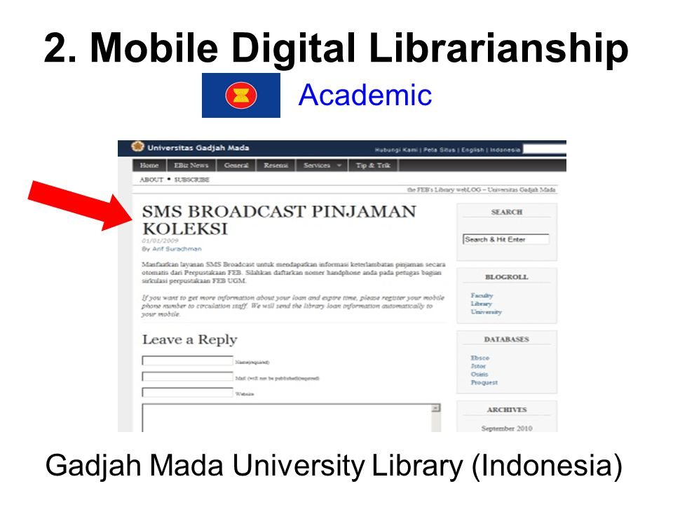 2. Mobile Digital Librarianship Academic Gadjah Mada University Library (Indonesia)