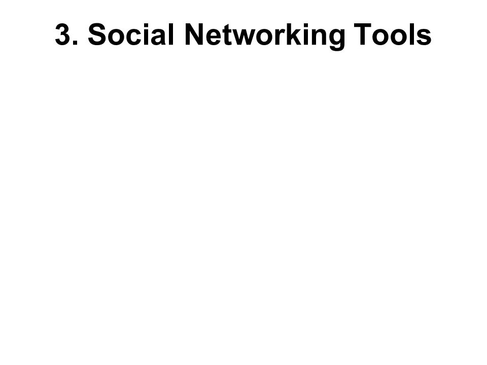 3. Social Networking Tools