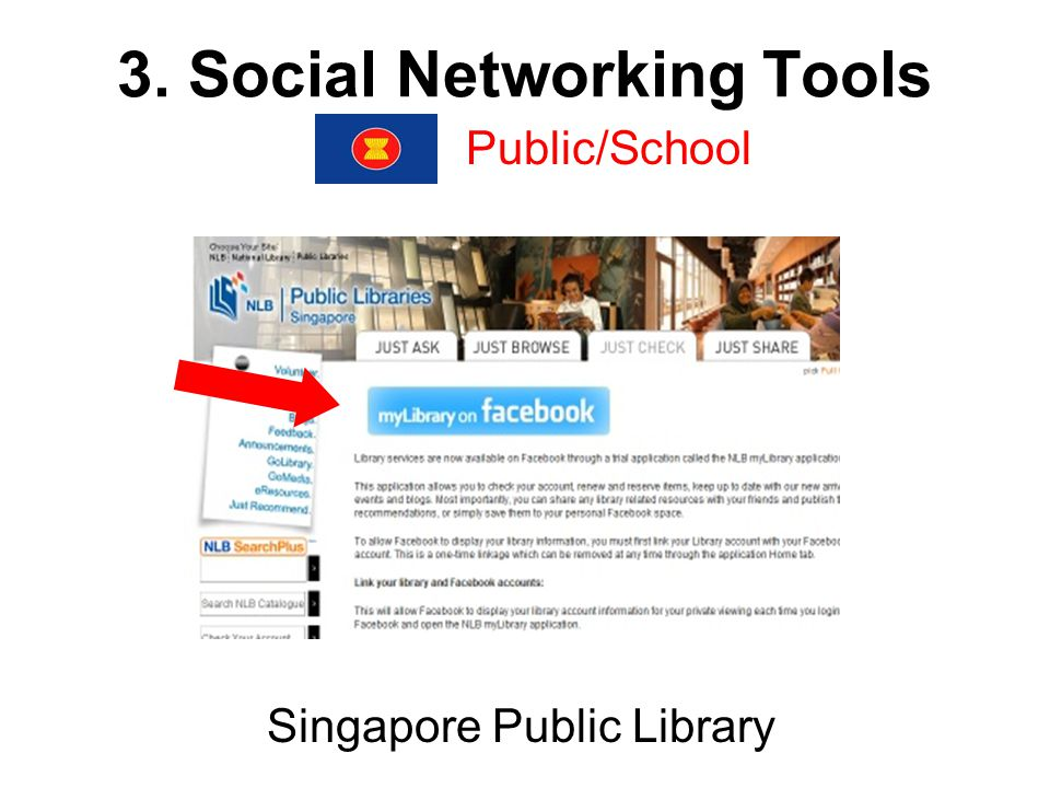 3. Social Networking Tools Public/School Singapore Public Library