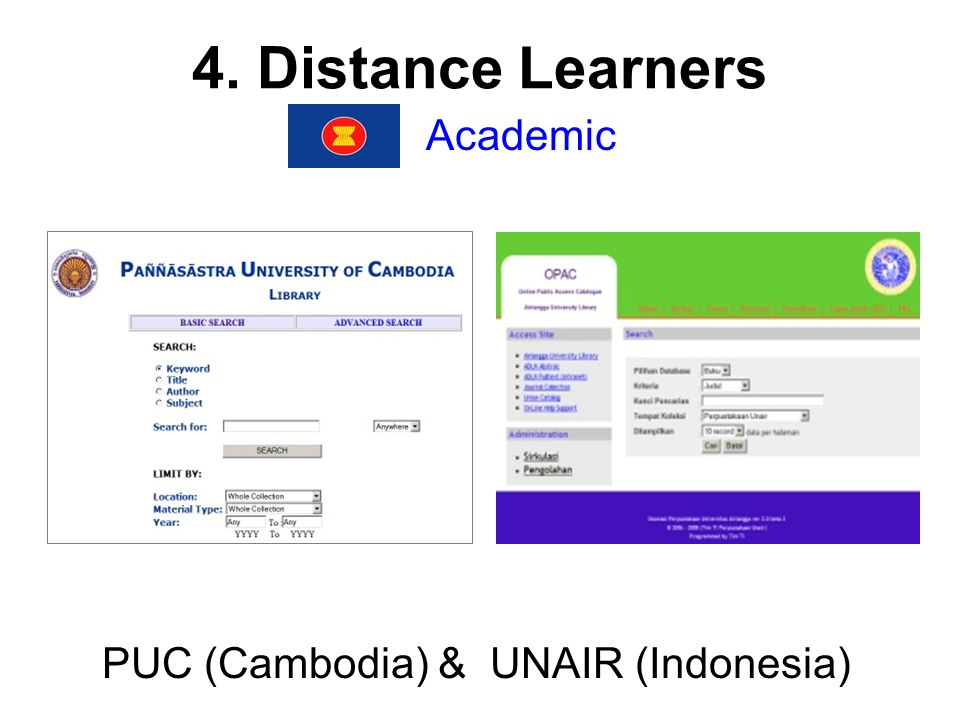 4. Distance Learners Academic PUC (Cambodia) & UNAIR (Indonesia)