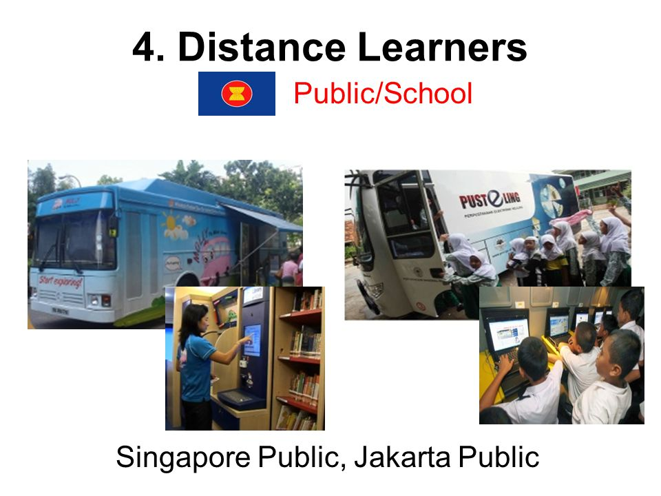 4. Distance Learners Public/School Singapore Public, Jakarta Public
