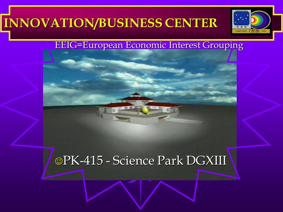 J PK-415 - Science Park DGXIII INNOVATION/BUSINESS CENTER EEIG=European Economic Interest Grouping