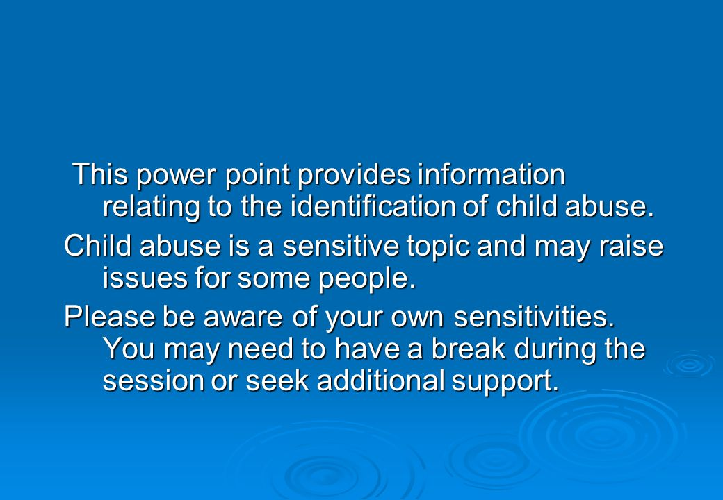 What is Sexual Abuse.