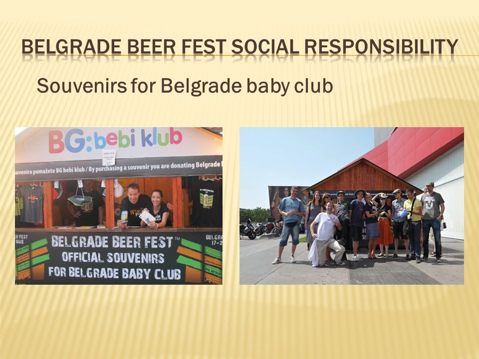Souvenirs for Belgrade baby club