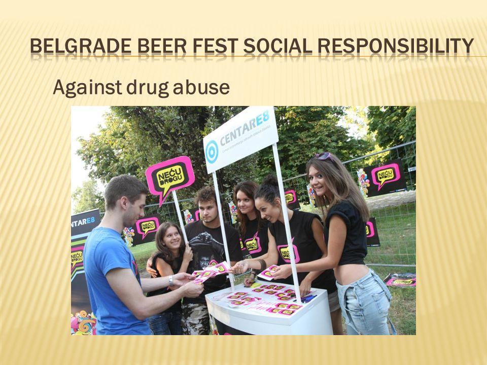 Against drug abuse