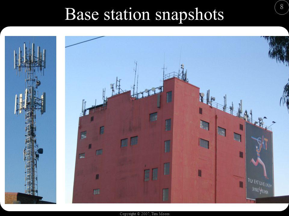 Copyright © 2007, Tim Moors 8 Base station snapshots