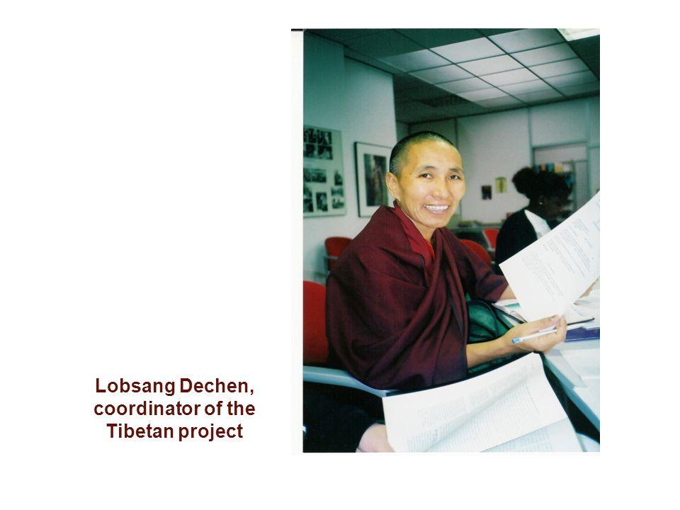Lobsang Dechen, coordinator of the Tibetan project