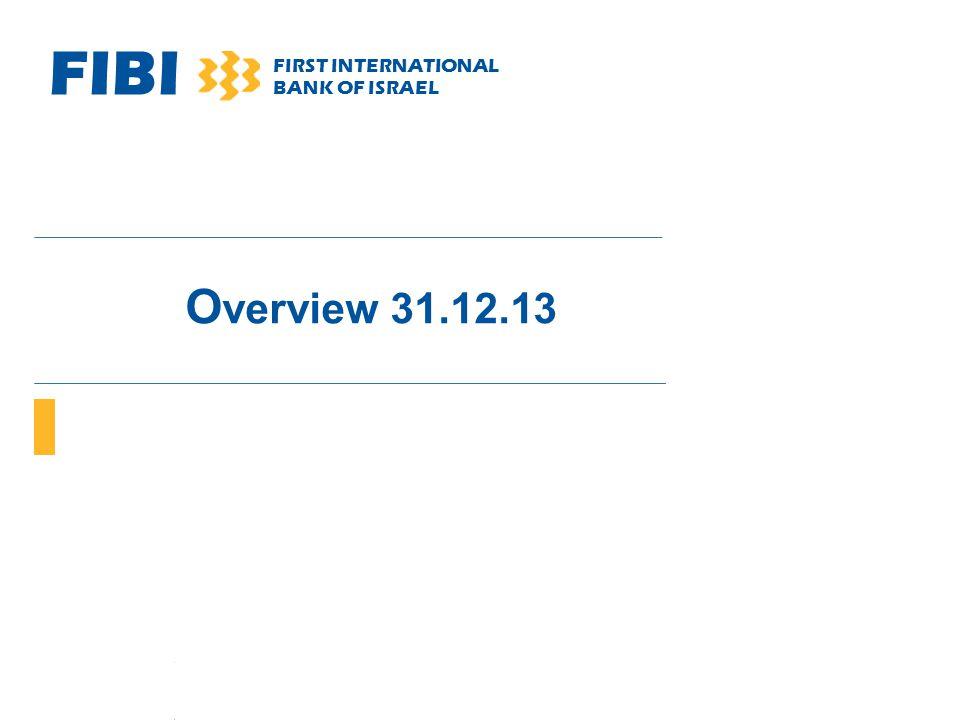 FIBI FIRST INTERNATIONAL BANK OF ISRAEL O verview 31.12.13